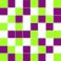 Michelle mosaic green/violet/white 20*20
