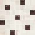 Simple stone beige glass mosaic 25*24,86